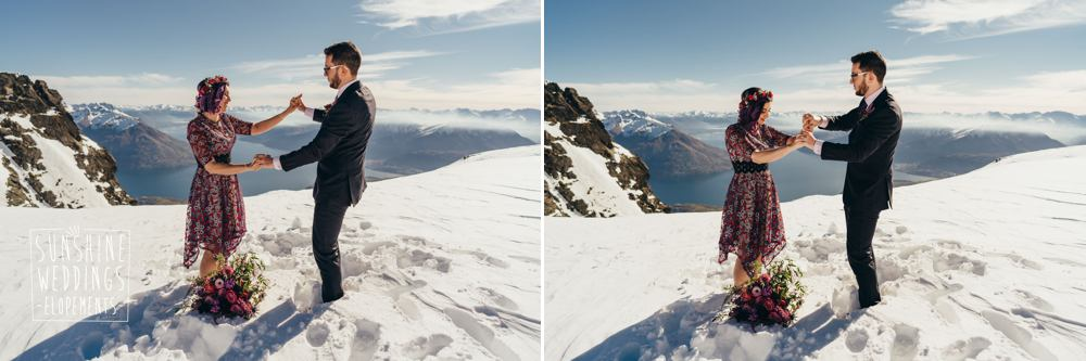 Heli wedding Remarkables packages