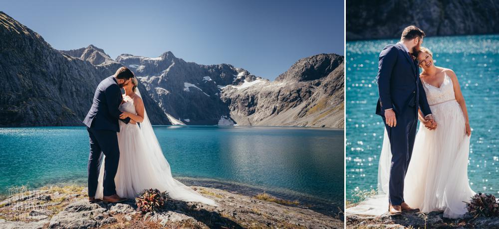 Fiordland mountain elopement wedding