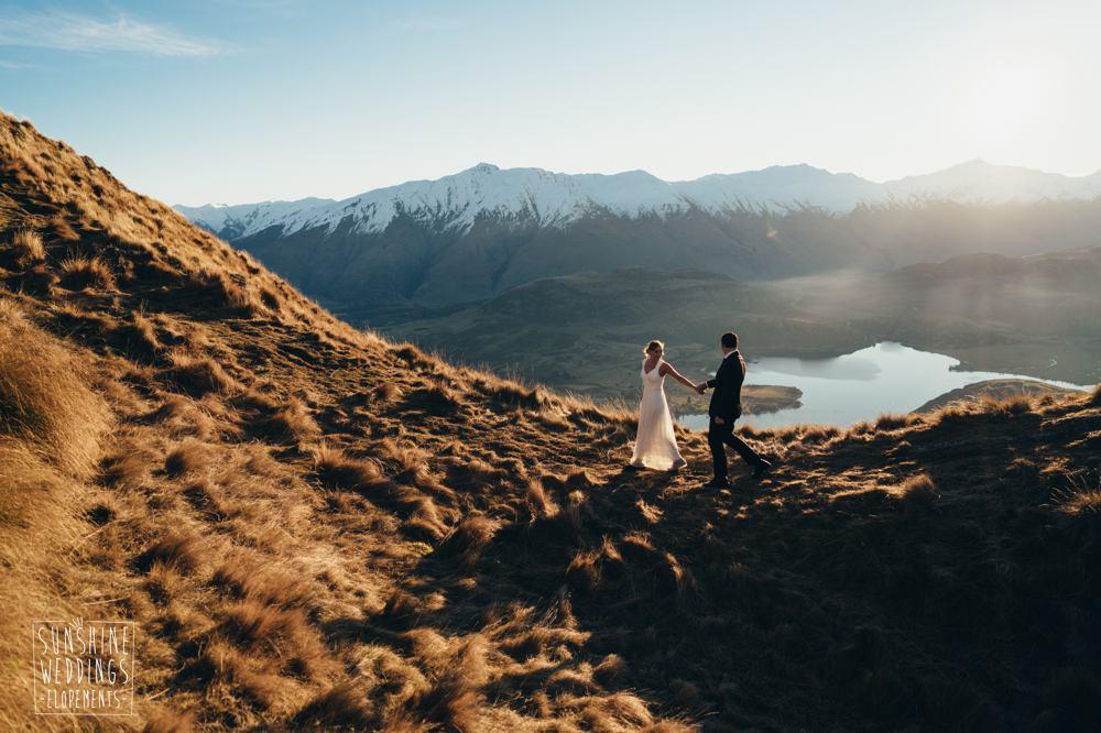 Mount roy elopement wedding panner