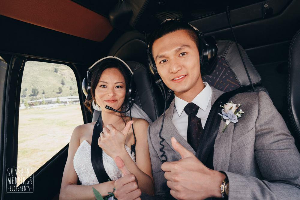 helicopter wedding Queenstown NZ