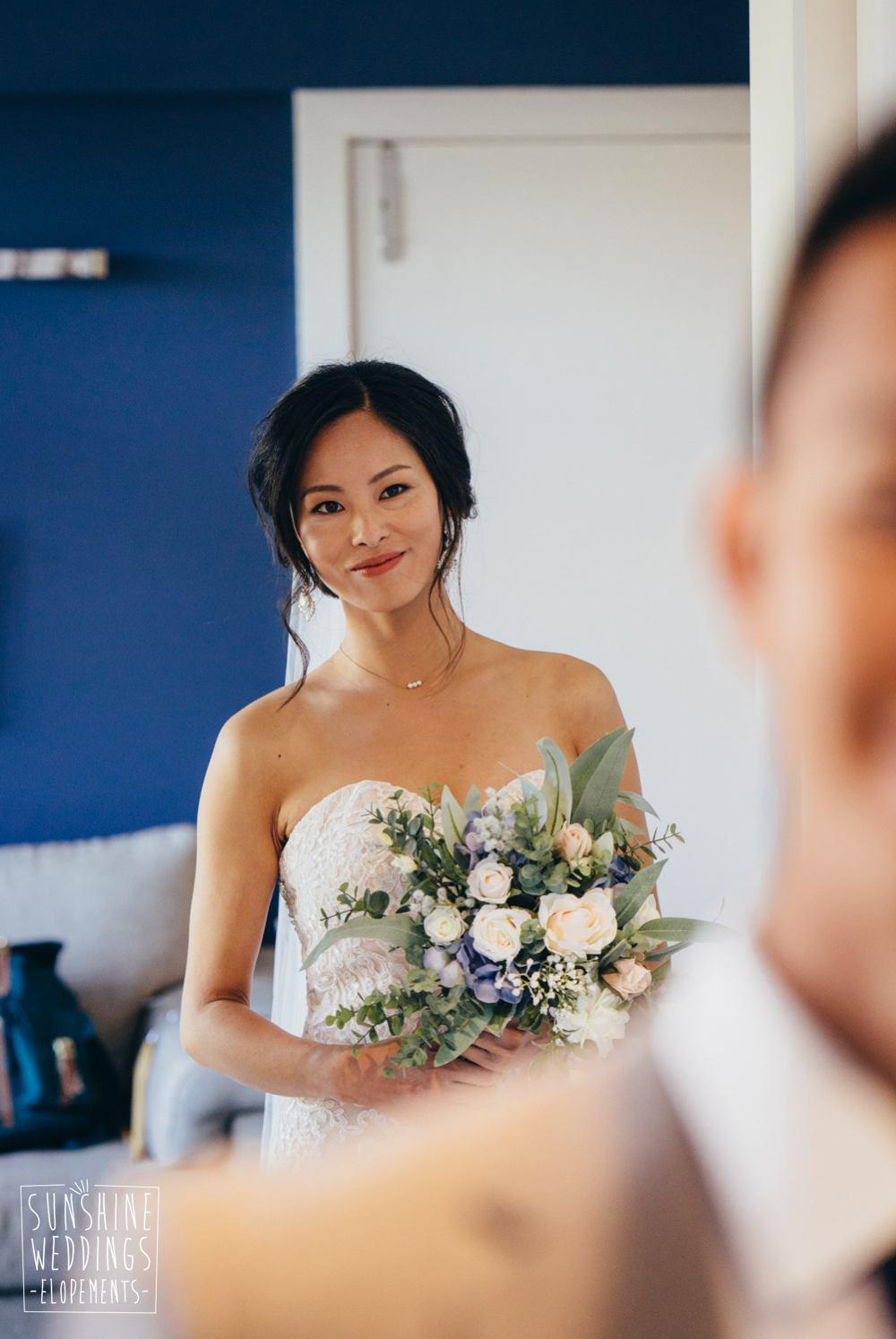 first look Queenstown elopement