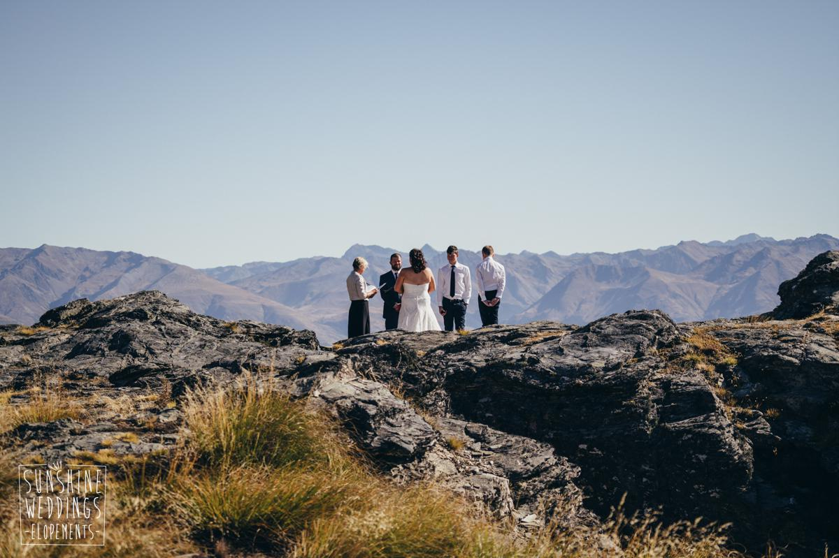 Queenstown mountain wedding with family