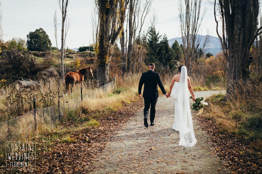 nz elopement packages for autumn weddings