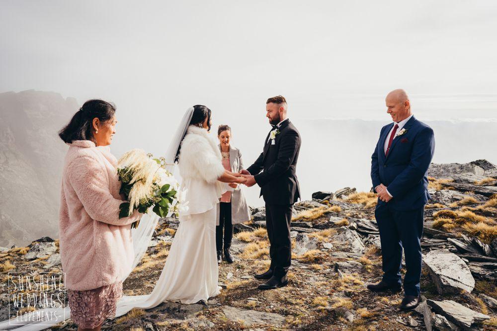 wedding ceremony Remarkables Queenstown