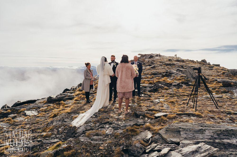 Double Cone Remarkables Queenstown mountain wedding