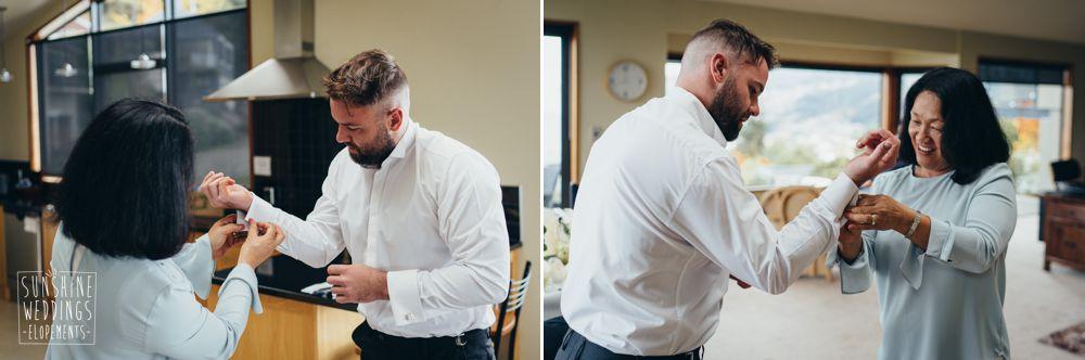Groom dressing Queenstown
