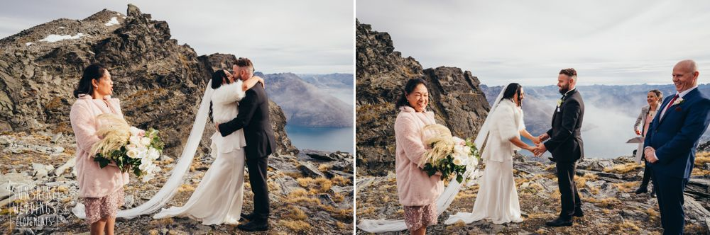 nz mountain elopement wedding