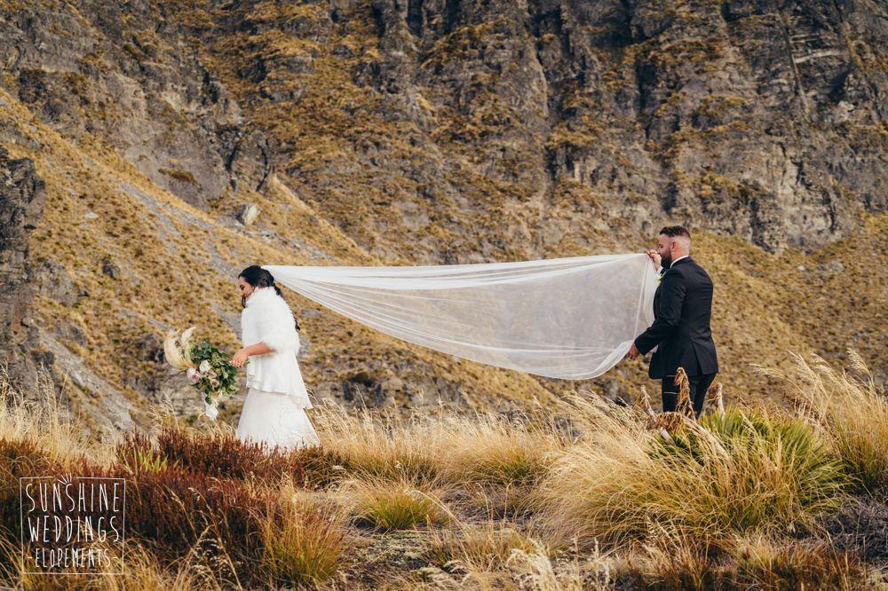 heliwedding Cecil Peak Queenstown elopement packages