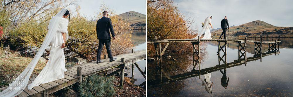 nz elopement lake wedding