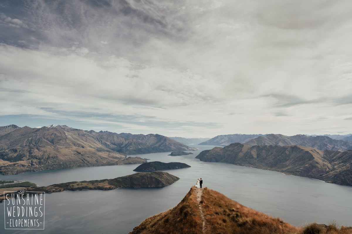 coromandel peak elopement wedding nz