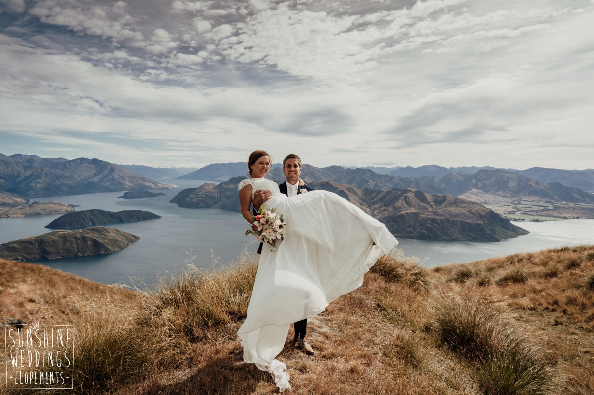elopement wedding coromandel peak photo