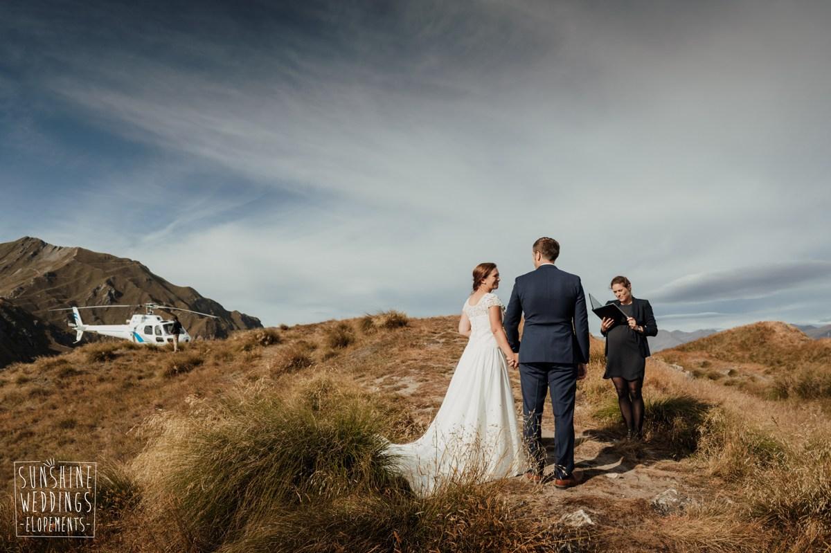 elopement wedding coromandel peak