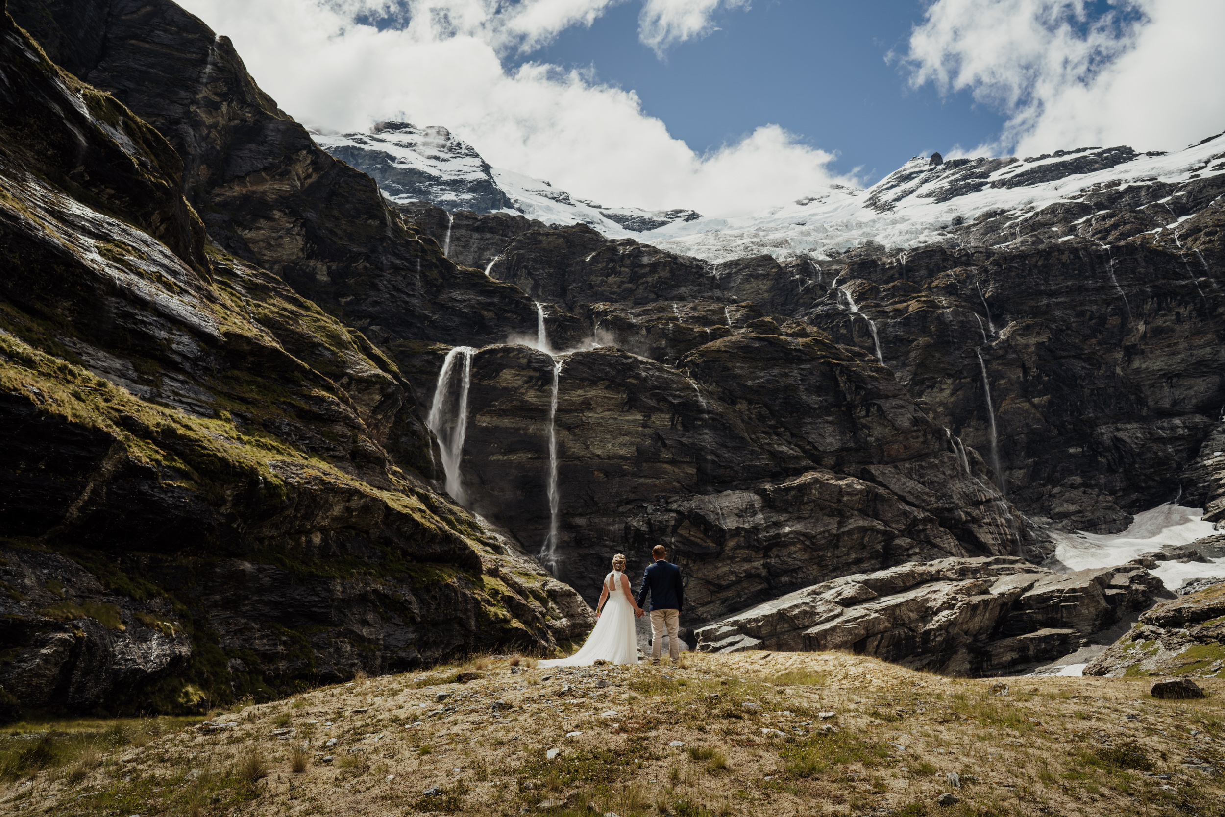 waterfall wedding queenstown