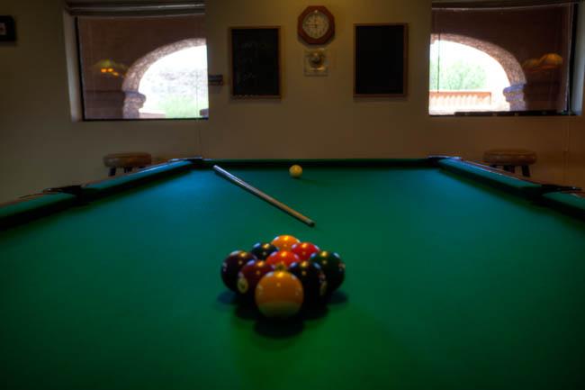 Billiards at Queen Valley RV Resort