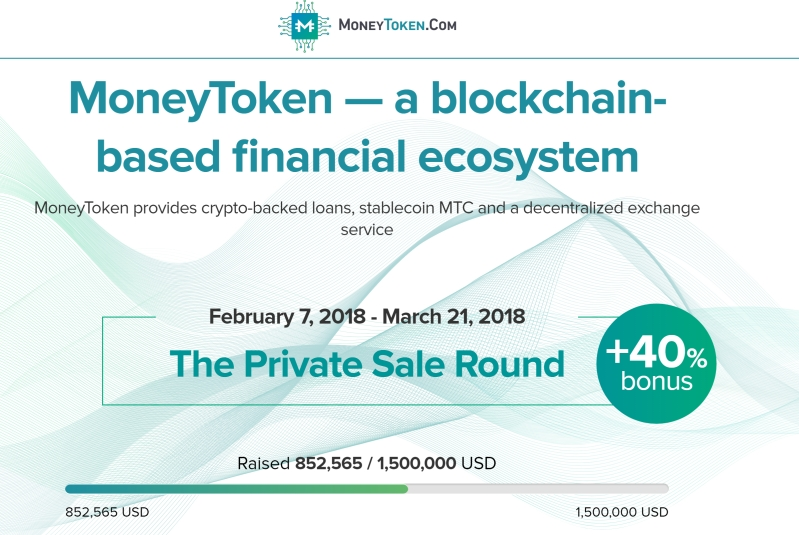 moneytoken - a blockchain based financial ecosystem. Borrow against your cryptocurrency