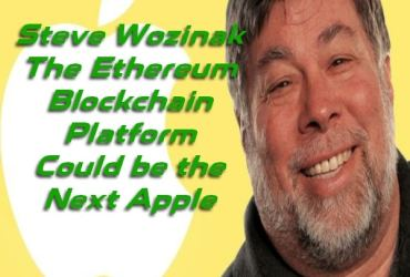 STeve Wozniak Ethereum Blockchain Platform Apple