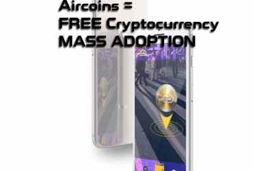 Aircoins AIRX Augmented Reality Mobile Game App - Treasure Hunt Free Cryptocurrency
