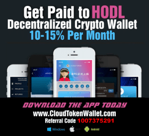 Download CloudToken Mobile Cryptocurrency Wallet