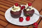 Blackcurrant chocolate cupcake