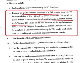 Issuing Gender Identity Certificate for Transgender People