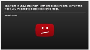 Screenshot: YouTube Restricted Mode via Change.org