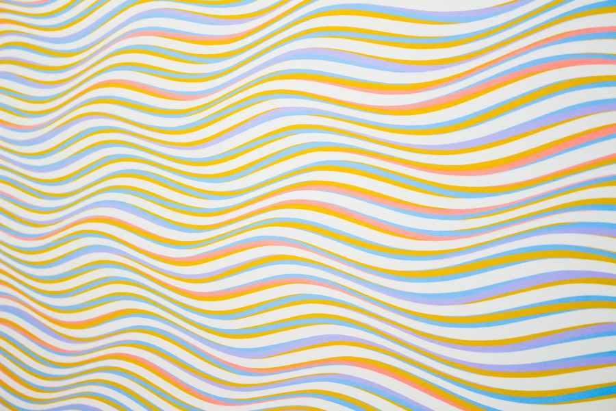 assorted color striped illustration