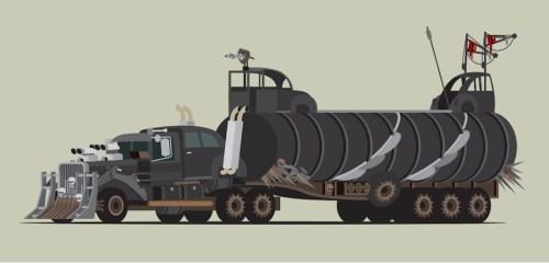 Ilustrações de Mad Max