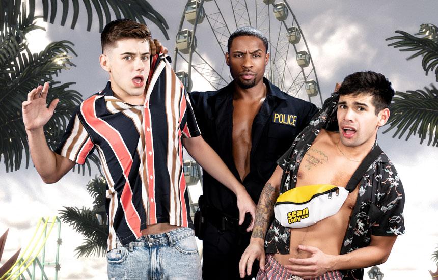 MEN: DeAngelo Jackson, Joey Mills & Ty Mitchell fuck in 'Top of the Fair Ass Wheel'