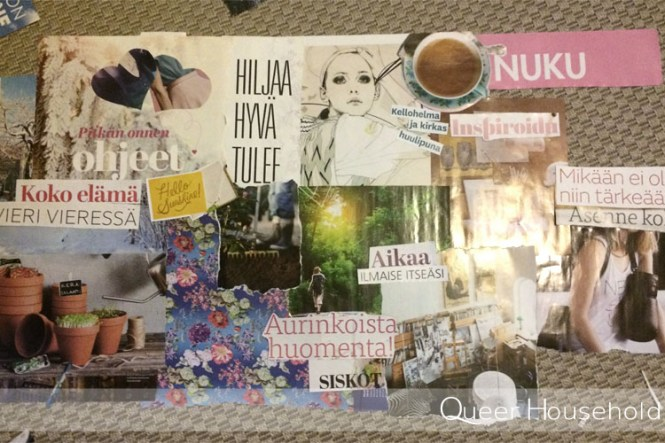 Janina's take on the vision board - Queer Household