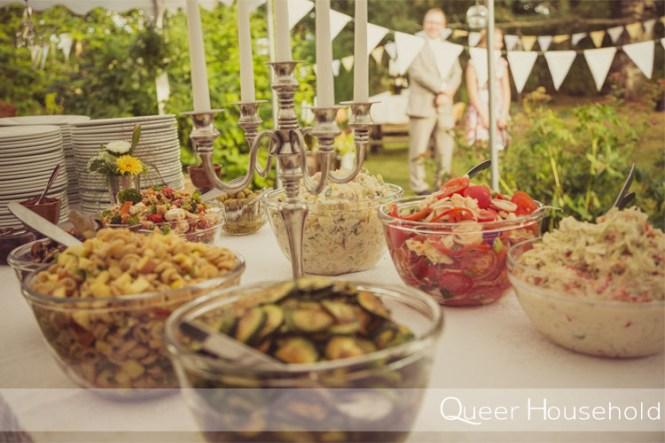 DIY vegetarian wedding menu - Queer Household
