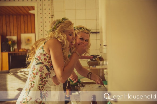 Brides maids in the kitchen - Queer Household