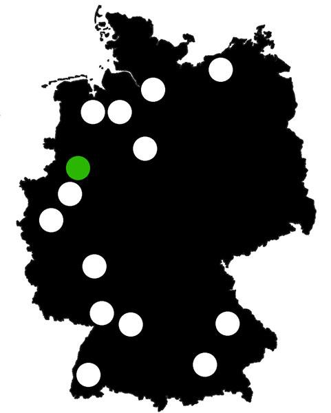 Queerscope, Deutschland-Karte mit Münster hervorgehoben