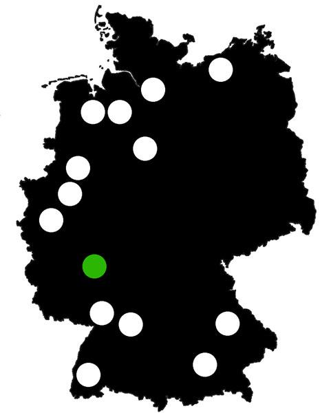 Queerscope, Deutschland-Karte mit Weiterstadt hervorgehoben
