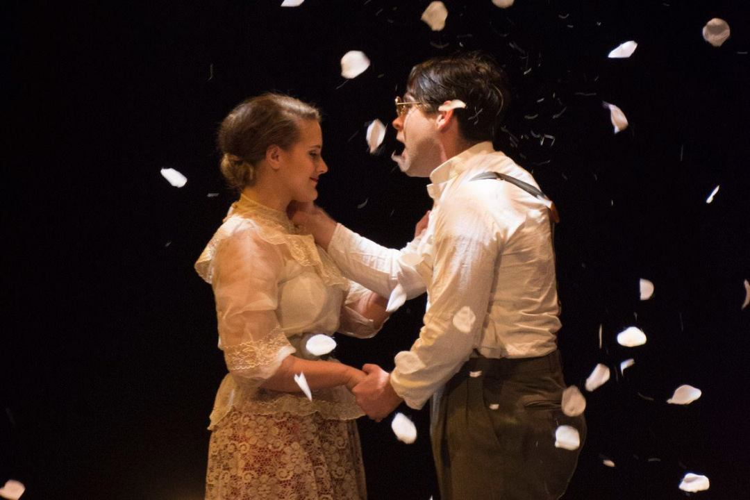 Tori Spero as Lucille Frank and Jeff Orton as Leo Frank. Photo by Ken Holmes.
