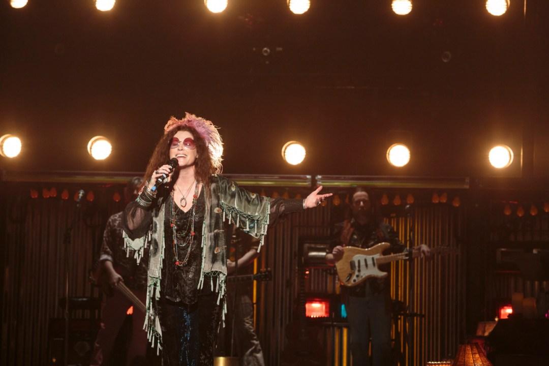 Kacee Clanton stars as Janis in A Night With Janis Joplin. Photo by Tracy Martin.