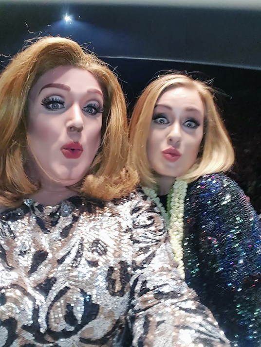 Kristi Champagne snagged an onstage selfie with Adele herself.