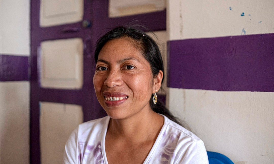 Floriberta Roberto migrated from rural Guatemala to Tapachula, Mexico. She said that T'ja Xuj was the first place where she learned about her rights as a domestic worker.
