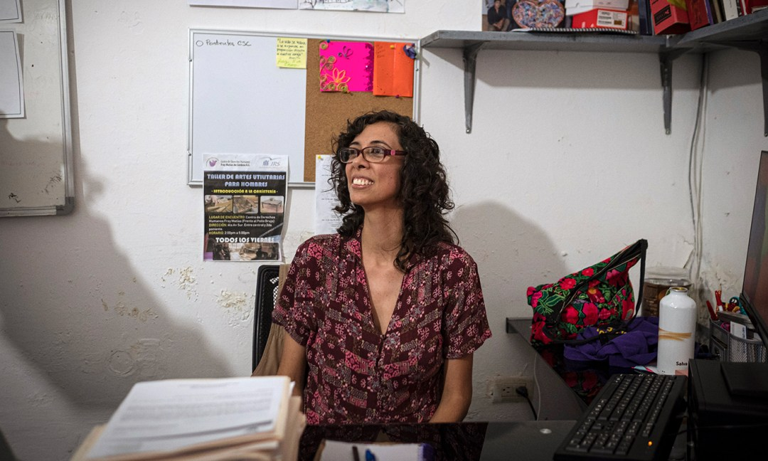 Ana Elena Barrios is a psychologist at the Center of Human Rights Fray Matías de Córdova, and in her work supporting migrant women, she says that she is particularly troubled by how much violence they have experienced. She said that each woman she speaks to shares a story of violence.