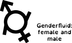 Queer Tarot: Genderfluid f m Symbol