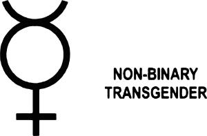 Queer Tarot: non binary transgender Symbol