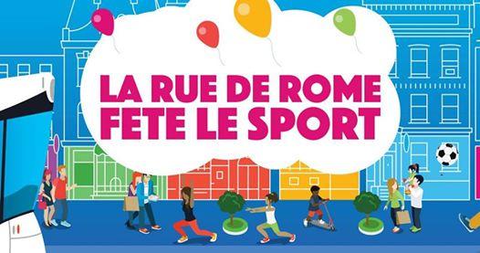 La rue de Rome fête le Sport