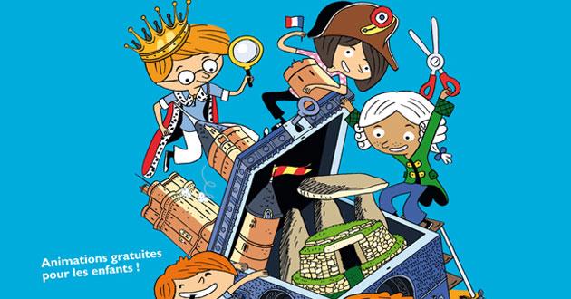 Monument jeu d'enfant sur le site de Glanum à Saint-Rémy de Provence