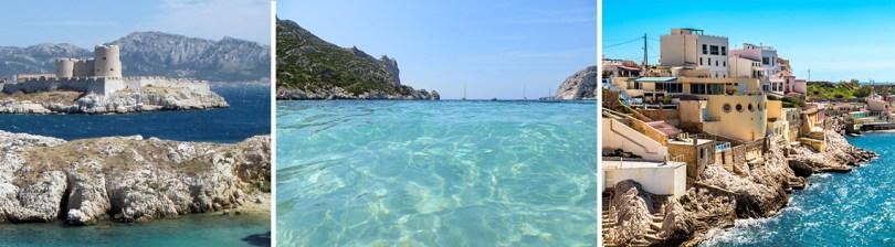 visiter Marseille avec des enfants, Marsseille, ses îles du frioul, sa corniche