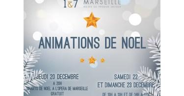Animations de Noël Marsseille 1er et 7ème arrondissement