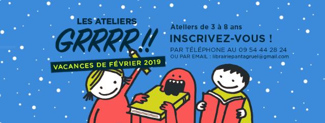 Ateliers GRRRR!! librairie Pantagruel Marseille