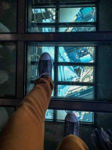 Suelo Transparente en Tokyo Skytree