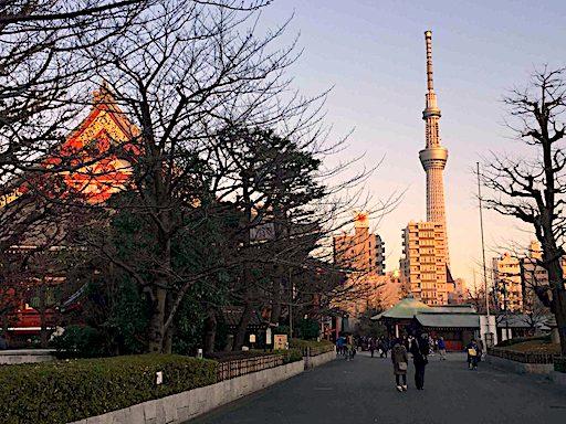 La torre Tokyo Skytree se ve desde varios puntos de la ciudad