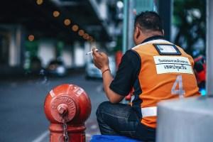 Conductor de Taxi moto, Bangkok