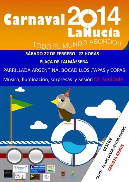 La Nucia Carnaval carte 2014