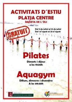 aquagym y pilates gratis en villajoyosa